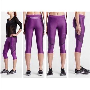 Nike power speed purple capris leggings